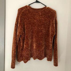 Cynthia Rowley scalloped sweater